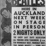 Con mucha tensión, Los Beatles actúan en Auckland, Nueva Zelanda