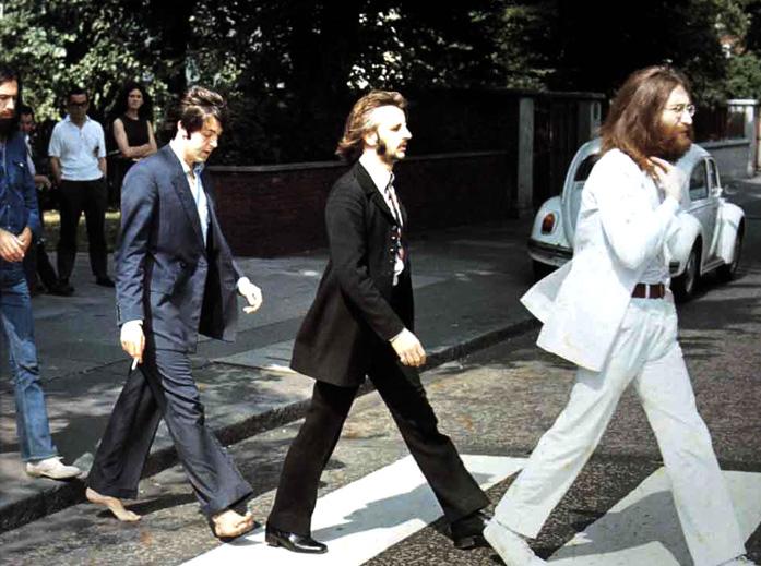 La mítica foto de la portada de Abbey Road