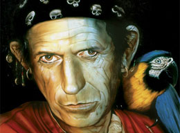 "Exponen en Londres el retrato de Keith Richards que inspiró ""Piratas del Caribe"""