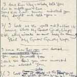 "Subastarán manuscrito original de ""While My Guitar Gently Weeps"""