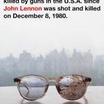 Yoko comparte impactante foto de los lentes ensangrentados de John