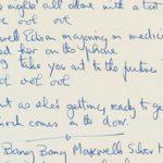 Letra de Maxwell's Silver Hammer fue subastada por $192,000