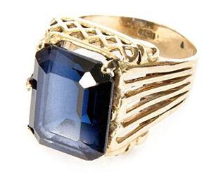 Uno de los anillos de Ringo Starr que le hicieron valer su apelativo de toda la vida.