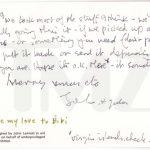 Subastan una carta que John Lennon le envió a Tony Cox