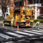Aprovechan la cuarentena para pintar el cruce de Abbey Road