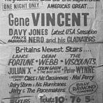 John, Paul, George y Stu asisten al concierto de Gene Vincent