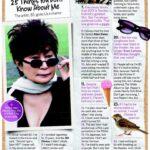 Yoko Ono enlista las 25 cosas que no sabes de ella