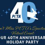 PETA celebra sus 40 años con una gala virtual