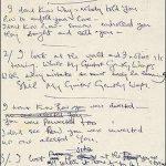 """Subastarán manuscrito original de """"While My Guitar Gently Weeps"""""""