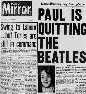 Los Beatles anuncian su separación – Newspaper Taxis