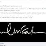 Paul McCartney dolido por la muerte de Phil Everly