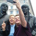 Paul McCartney graba para el programa de James Corden